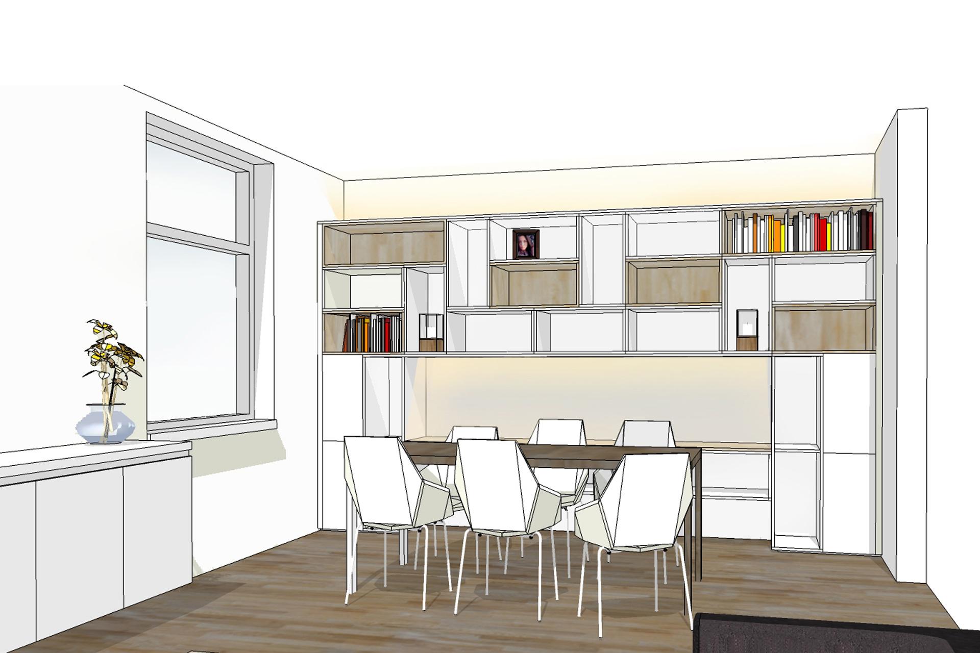 boekenkast en tv meubel