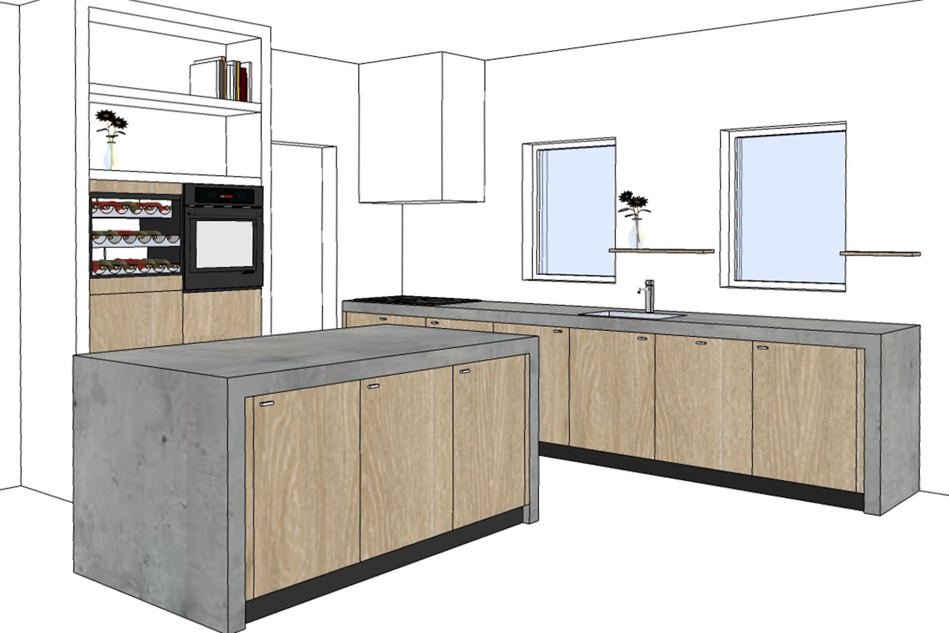 Hoge Kastenwand Keuken : Landelijke keuken op maat – Erjo Maatwerk Interieur